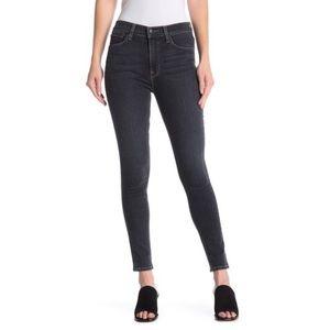 Hudson Barbara High Rise Super Skinny Black Jeans